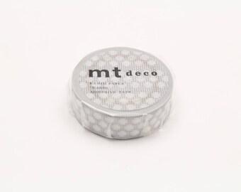 mt deco - hougan dot grey - washi masking tape - 15mm x 10m x 1 roll