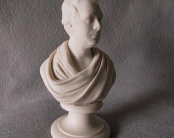 Antique Parian Porcelain Bust of Sir Walter Scott, Scottish Writer