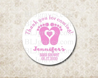Custom Baby Shower Stickers Thank You Stickers Labels Party Favor Treat Bag Sticker SB022