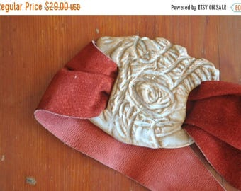 SALE Unique Boho Leather Belt / S-M