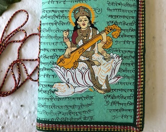 Saraswati Yoga Journal, Goddess of Knowledge and Arts, Subject Learning Journal, Art Journal, Study Journal, Music Journal, Blank Journal