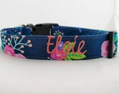 Add on Embroidery for Dog Collars and Leashes- Buckle Collar-Martingale Collar- Personalized- Monogrammed- Embroidered