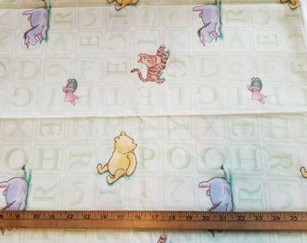 Winnie the Pooh vintage style characters just over 3yd