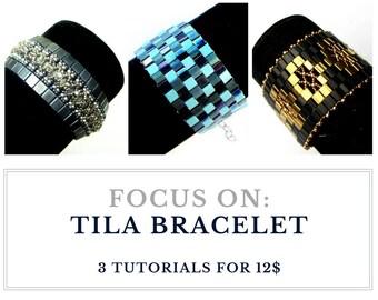 TILA BRACELET: Buy  3 tutorials for 12.00 usd, save and create endless variations of elegant bracelets