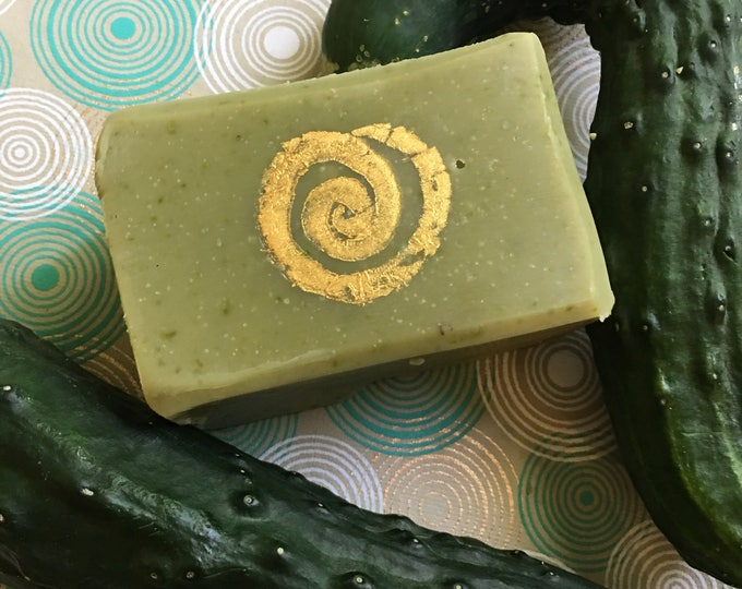 Homegrown Organic Cucumber Lemon Soap cool refreshing delightful