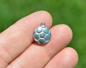 1  Stainless Steel  Soccer Ball Charm SC2926