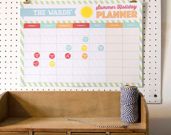 Personalised Summer Holiday Planner
