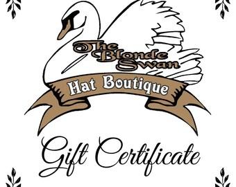 Blonde Swan Gift Cerficate