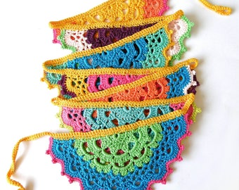 Crochet Garland, multicolor
