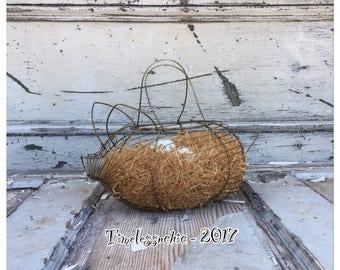 Wire Basket - Kitchen Basket - Hanging Basket - Pig Basket - Egg Basket - Vintage Basket - Antique Basket - Metal Basket - Pig Decor - Pigs