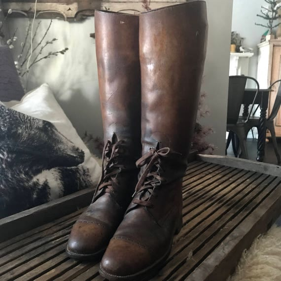 Antique Riding boots,all leather.
