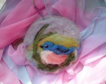 New Zealand wool bird - wool art - decor - gift
