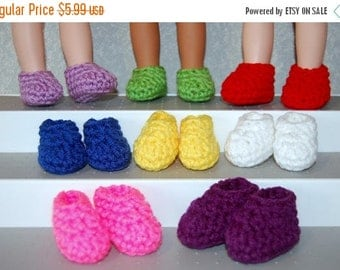 """Spring Sale Slippers One Pair your choice - fits 14"""" Wellie Wishers Mine to Love  tkct1137 READY TO SHIP"""