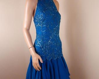 oleg cassini silk dress,