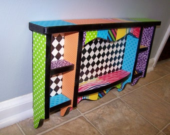 Shelving, Wall Decor, Whimsy, Checkerboard, Colorful, Wall Unit, Wall Hanging, Colorful Shelf, Playroom, Wall Shelf, Display Shelf, Zebra,