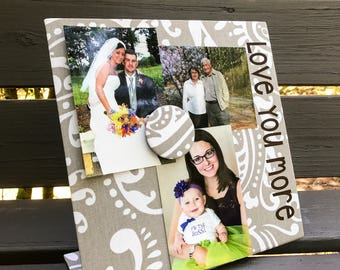 Magnetic Board - Love You More - Magnetic Board - Magnet Board - Magnet Picture Frame - Message Board - Memory Board - Couple Gift