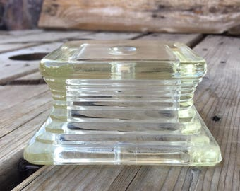 Vintage Lamp Parts, Glass Repurpose Supply Upcycle 202