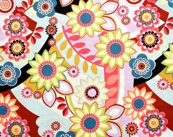 Contemporary Floral Multi Print Cotton Fabric