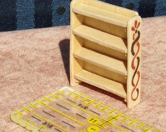 Handmade 1:48 quarter scale Real Wood Miniature Bookcase