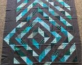 Quilt Top : Off-centered Blocks