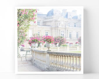 Paris Photography - Flowers at Luxembourg Gardens, 5x5 Paris Fine Art Photograph, French Home Decor, Wall Art, Gallery Wall