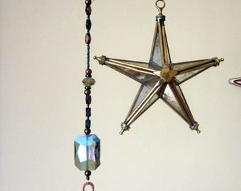 Mystical Star Beaded Sun Catching Mobile Wind Chime