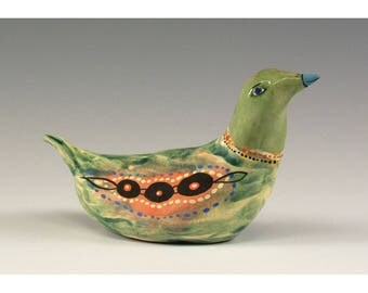 Ziqqy - Sculpted Ceramic Bird by Jenny Mendes