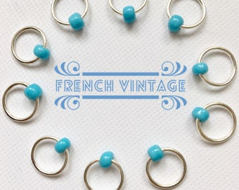 Snag Free ring stitch markers/knitting - FRENCH VINTAGE