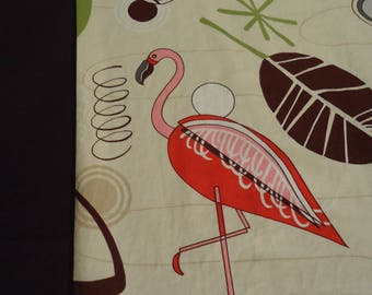 Pink Flamingo panel shirt made to order choose small to 6X