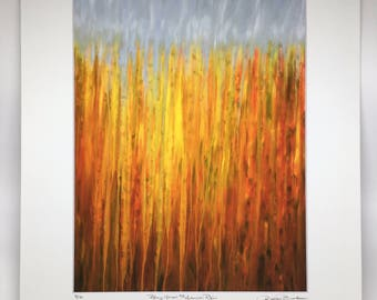 New Item! Autumn Rain Giclee Print 8x10 Fine Art Print Rainy Moments by Rachel Brask