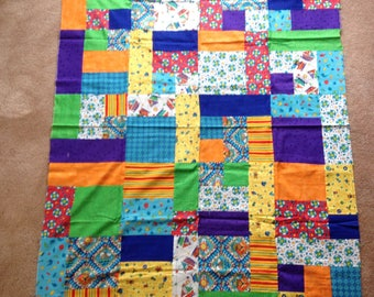 Bright Seaside Kid Quilt Top