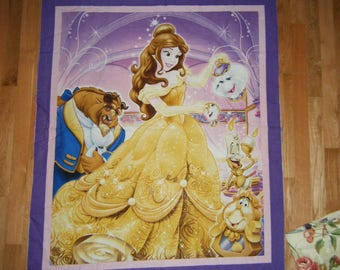 Beauty and the Beast Panel Cheater Quilt Wall Hanging Princess Nap Mat Play Mat Party Decor Nursery Playroom Fairy Tale Disney Story