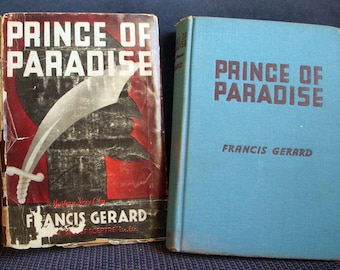 Prince of Paradise, Francis Gerard, HB DJ, Stated First Edition, Dust Jacket, Rare Vintage Mystery Thriller