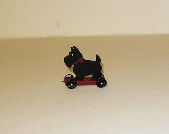 Tiny Scottie Pull Toy - 1/12th scale