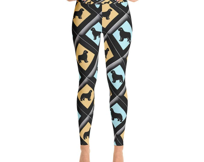 Newfy Diamond Patches Yoga Leggings