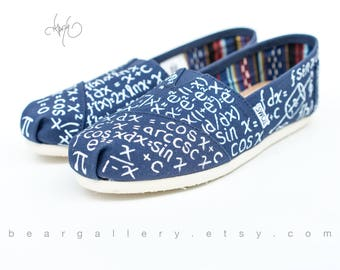 Calculus TOMS Shoes - Custom Hand Painted TOMS Shoes