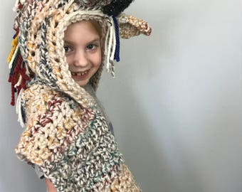 Unicorn Hooded Scarf for Juvenile Arthritis: Made to Order
