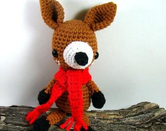 Crochet Deer Stuffed Animal, Woodland Amigurumi Deer, Crochet Baby Deer Toy, Crochet Fawn, Forest Deer, Christmas Deer Decor, Gift for Kid