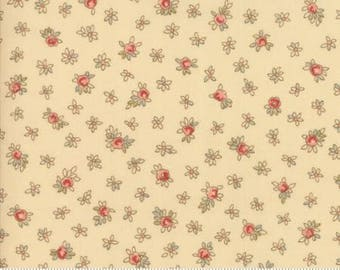 Prairie floral on Ivory.. Roses Chocolate II by Moda Fabrics 33273-11