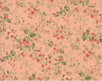 Small vine on Rose.. Roses Chocolate II by Moda Fabrics 33275-12