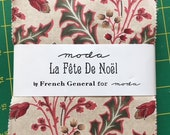 La Fete De Noel French General 5 inch  Charm pack last one rare oop  Christmas fabric