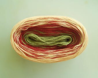 MOZART II  Color Changing Cotton yarn  480 yards/100 gr  Fingering Weight