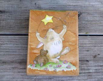Wood Mounted Rubber Stamp Starlight Starbright, Stamps Happen
