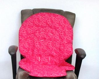 Graco Blossom or Duo diner custom high chair pad, baby accessory replacement chair pad, baby chair cushion, kids feeding chair, hot pink