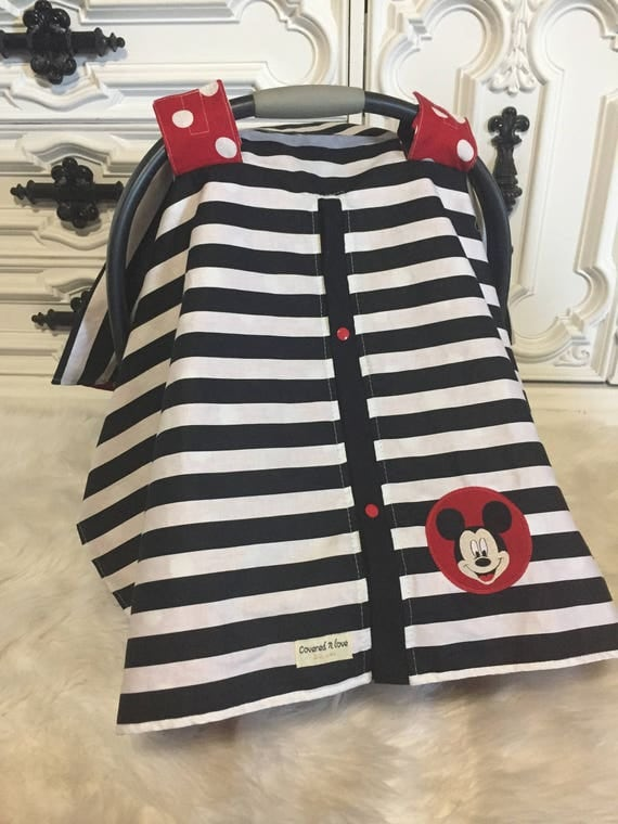 Mickey Mouse  car seat canopy , car seat cover , carseat canopy , minnie mouse , mickey mouse , disney