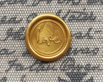 Love Peel  and Stick Flexible Wax Seals, 1.2 Inches in Size with One Inch Adhesive