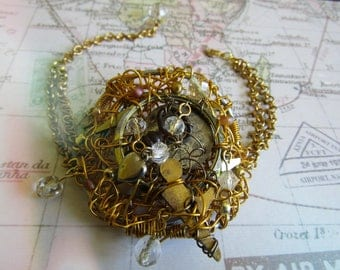 The Collector Steampunk Up Cycled Vintage Bracelet