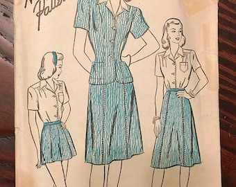 End of May Sale Advance Pattern 4300 | Bust 40 | Blouse Skirt Shorts Jacket 1940s 4-H Club Costume