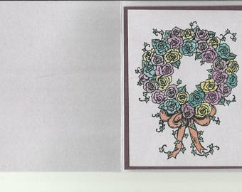 Wreath of Roses-Empowerment Card and Birthday Card Available
