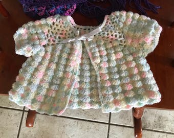 Baby jacket, crocheted, 3-6 months